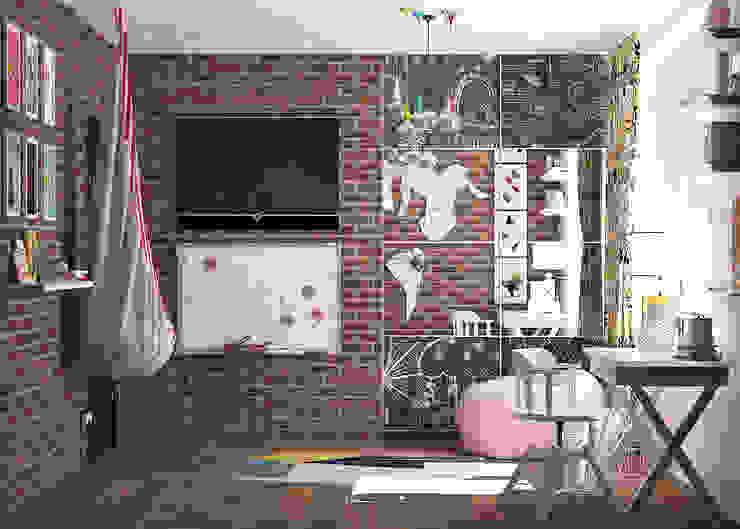 трешка из однушки Детские комната в эклектичном стиле от AnARCHI Эклектичный