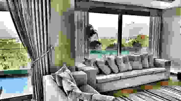 SMRYNA PARK EVLERİ Modern Oturma Odası ege perde Modern