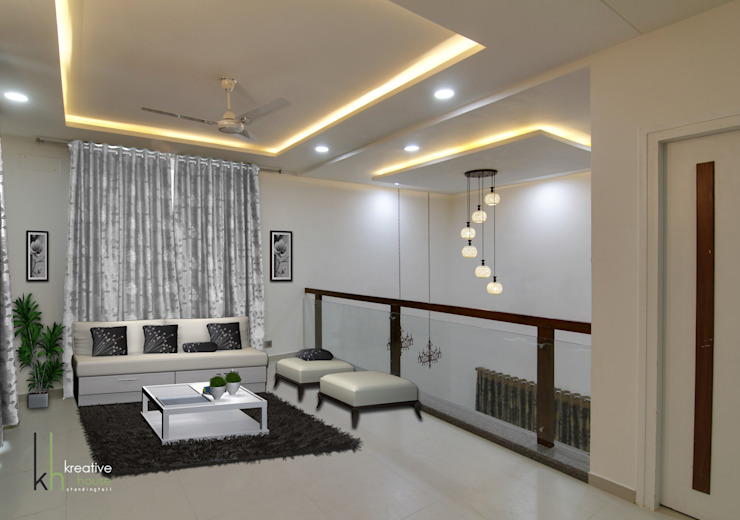 First Floor Lounge Modern living room by KREATIVE HOUSE Modern Solid Wood Multicolored