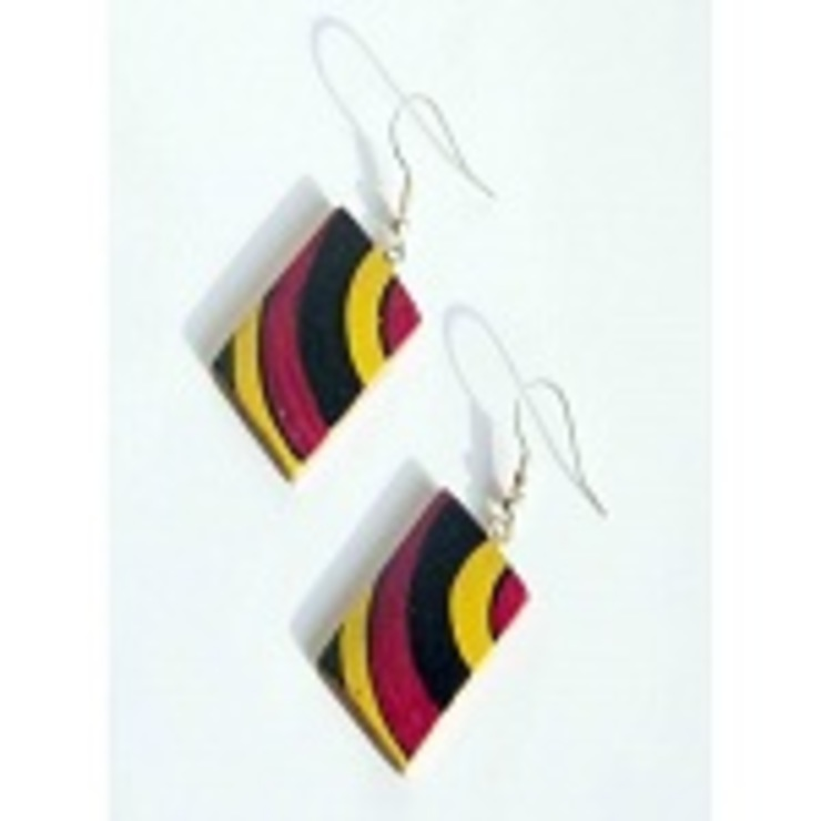 Bamboo Earrings: classic  by Alyth Creations,Classic