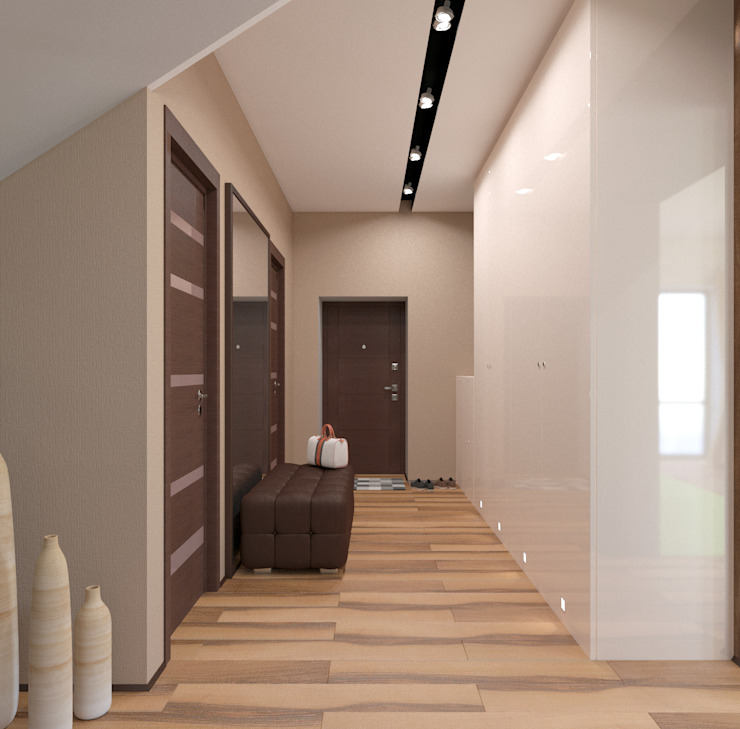 Corridor & hallway by студия дизайна 'Крендель', Minimalist