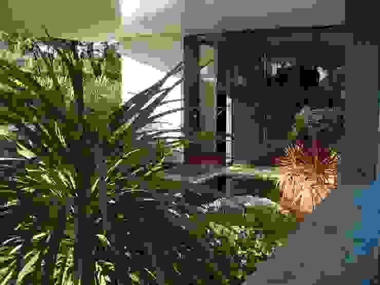 Jardines de invierno de estilo moderno de estudio padial gavián.arquitectura y urbanismo,slp Moderno