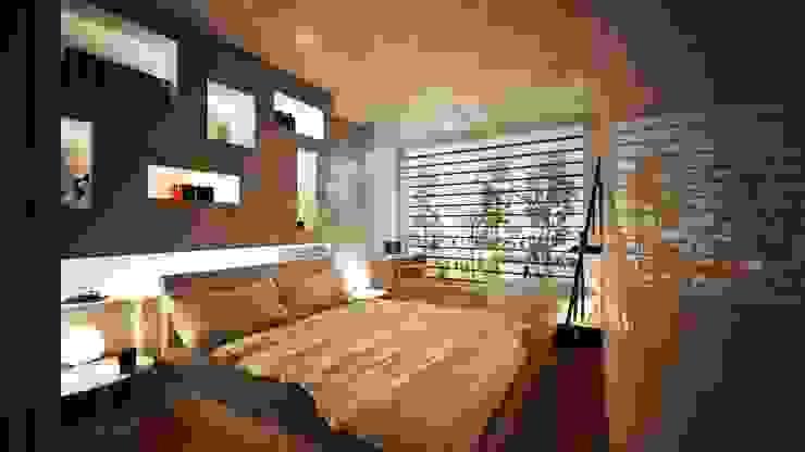 Interior Design: la camera da letto Camera da letto moderna di VILLEINBIOEDILIZIA Moderno