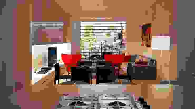 Interior Design: la zona giorno Cucina moderna di VILLEINBIOEDILIZIA Moderno