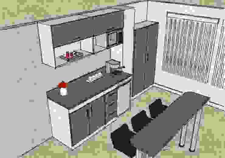Kitchenette Cocinas de estilo moderno de Grupo Creativo DF, C.A. Moderno Tablero DM