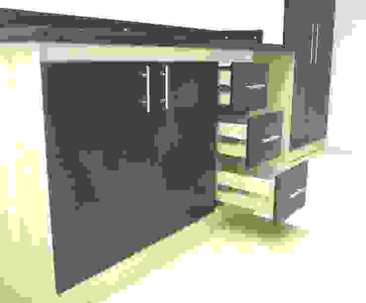 Kitchenette Cocinas de estilo minimalista de Grupo Creativo DF, C.A. Minimalista Tablero DM