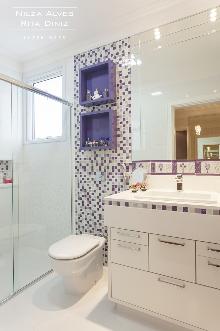 Banheiro feminino Banheiros modernos por Nilza Alves e Rita Diniz Moderno