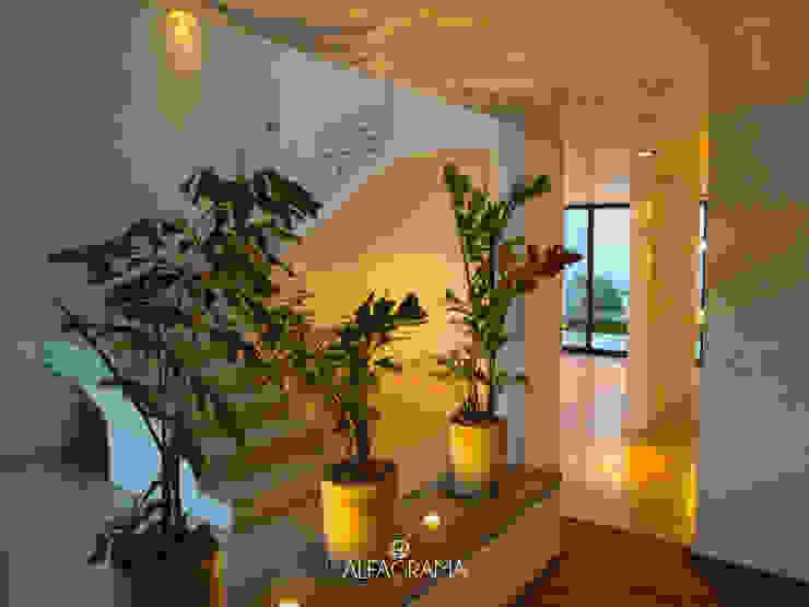 Couloir, entrée, escaliers modernes par Alfagrama estudio Moderne