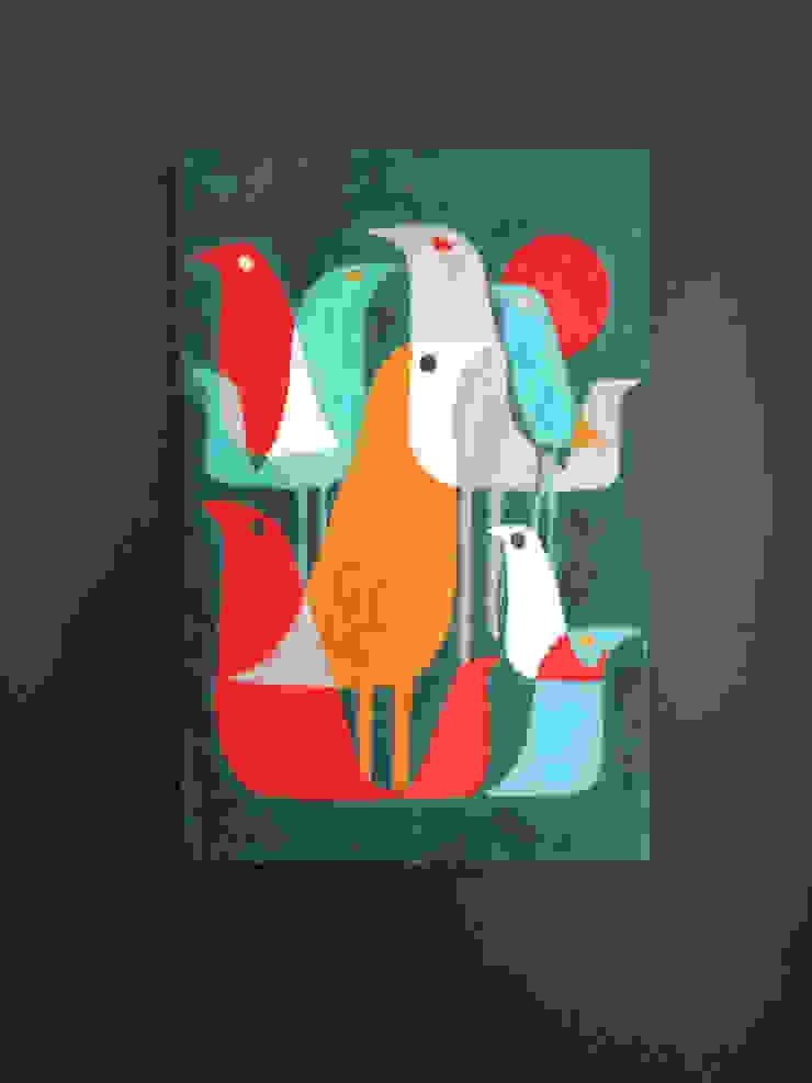 PAINTBYMGB – Vintage birds: modern tarz , Modern