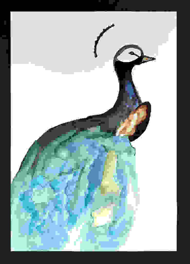 PAINTBYMGB – green bird: modern tarz , Modern