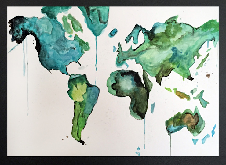PAINTBYMGB – world map: modern tarz , Modern