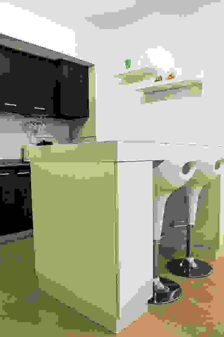 Mesa comedor con guardado MinBai CocinaMesas y sillas Madera Blanco