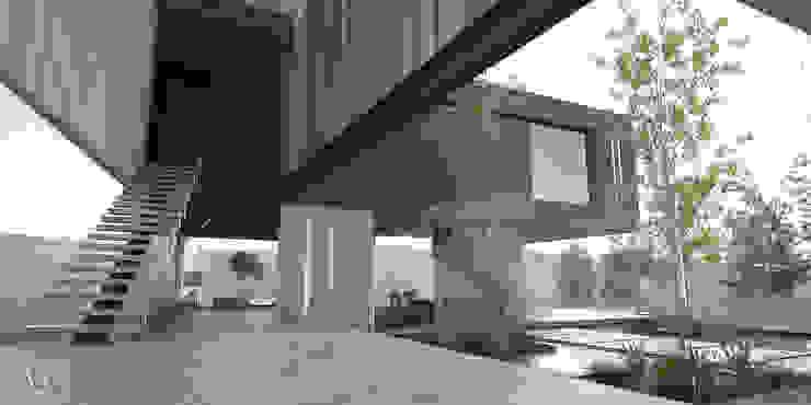 Vestibulo Principal Pasillos, vestíbulos y escaleras minimalistas de 21arquitectos Minimalista