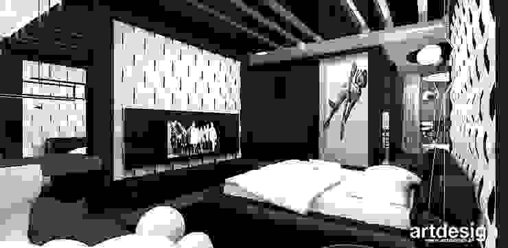 projekt sypialni Nowoczesna sypialnia od ARTDESIGN architektura wnętrz Nowoczesny