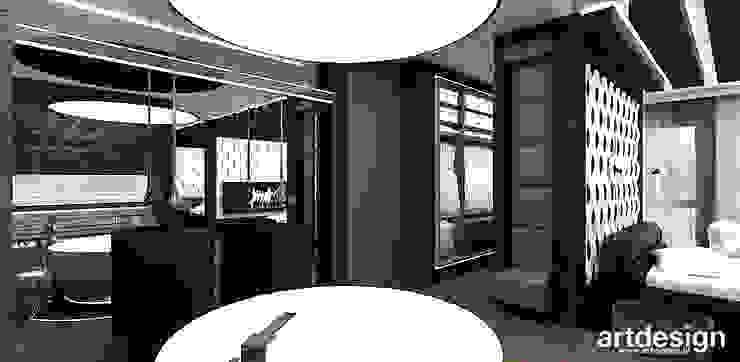 sypialnia z łazienką i garderobą Nowoczesna łazienka od ARTDESIGN architektura wnętrz Nowoczesny