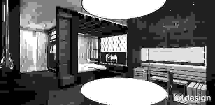 otwarty salon kąpielowy z sauną Nowoczesna łazienka od ARTDESIGN architektura wnętrz Nowoczesny