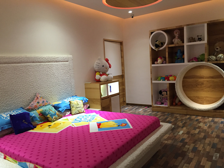 Residence—Mr. Bansal's daughter's room Modern style bedroom by Ujjval Fadia Architects & Interior Designers Modern Wood Wood effect