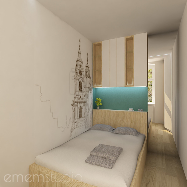 Scandinavian style bedroom by EMEMSTUDIO Scandinavian