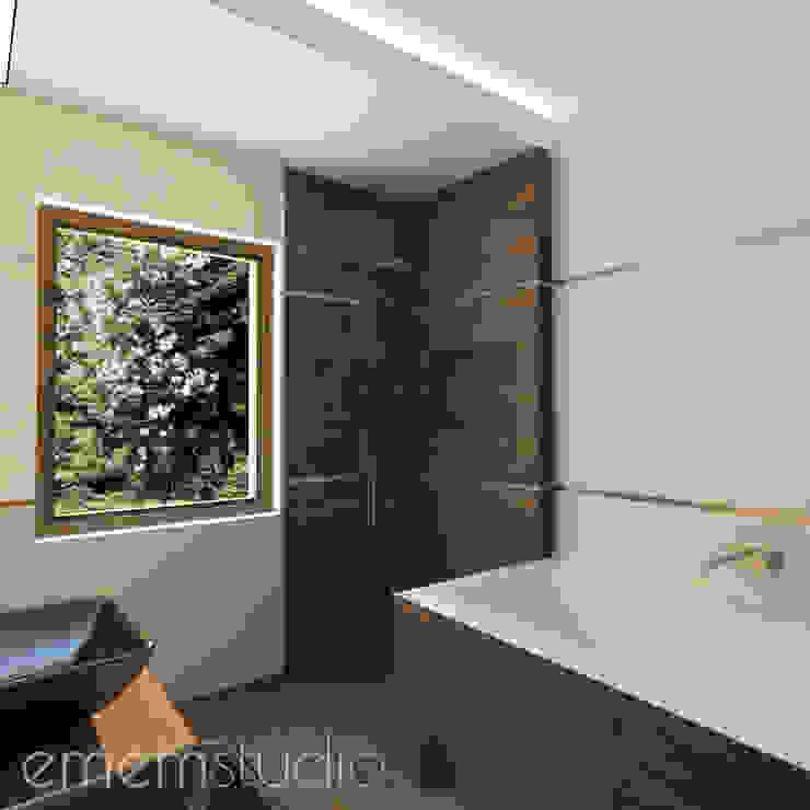 Walerianowo Projekt Nowoczesna łazienka od EMEMSTUDIO Nowoczesny