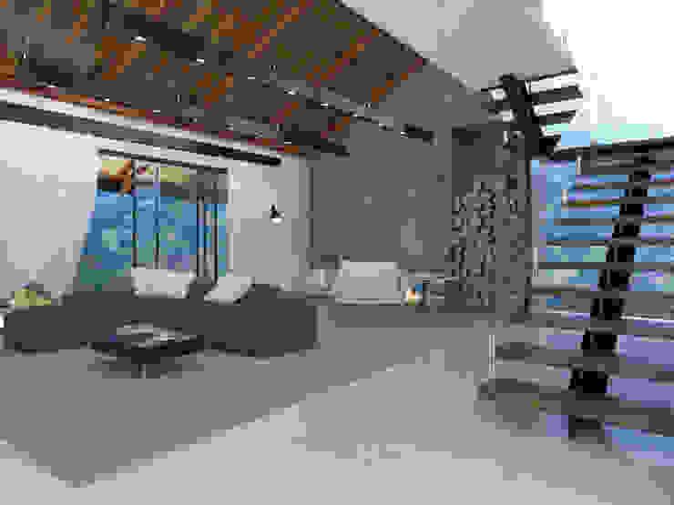 Modern Living Room by Teia Archdecor Modern Marble
