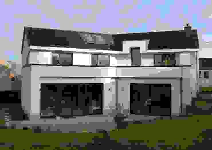 Façade arrière Maisons modernes par Bureau d'Architectes Desmedt Purnelle Moderne