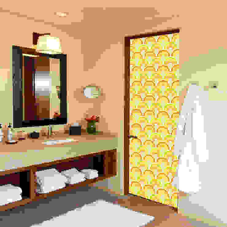 Pattern 07 de DoorDresser Moderno Textil Ámbar/Dorado