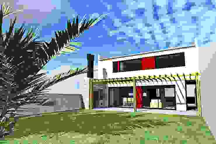 Fachada contrafrente Casas modernas: Ideas, imágenes y decoración de epb arquitectura Moderno