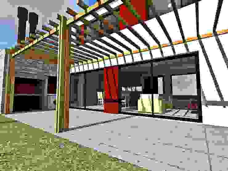Render exterior vista galeria Casas modernas de epb arquitectura Moderno