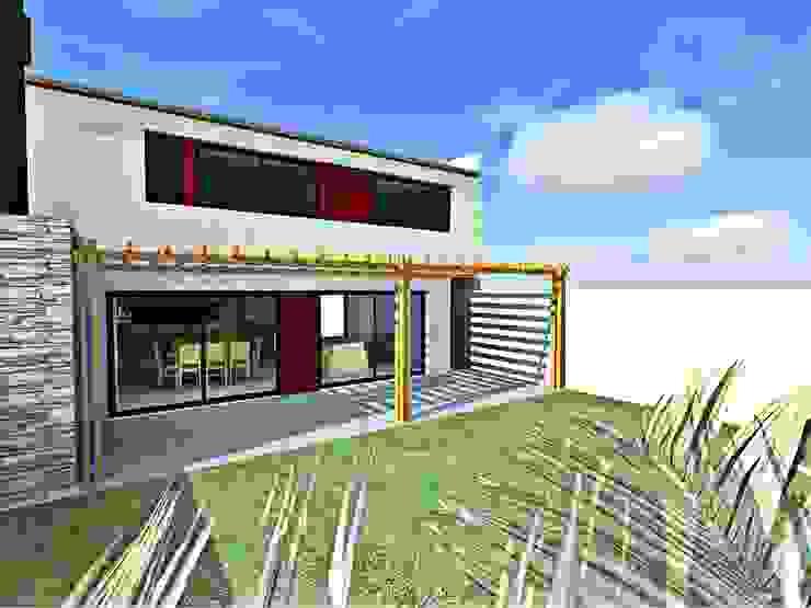 Perspectiva desde el jardin Casas modernas: Ideas, imágenes y decoración de epb arquitectura Moderno