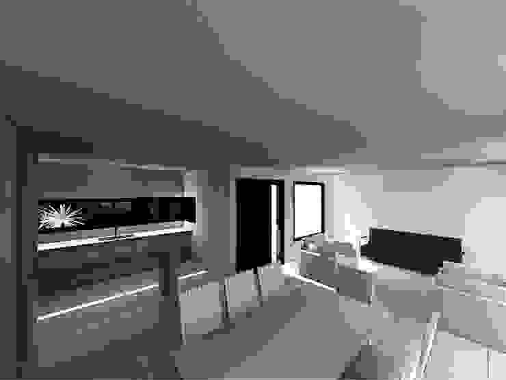 Interior Living- comedor Livings modernos: Ideas, imágenes y decoración de epb arquitectura Moderno