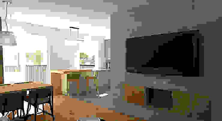 Столовая комната в стиле модерн от EMEMSTUDIO Модерн