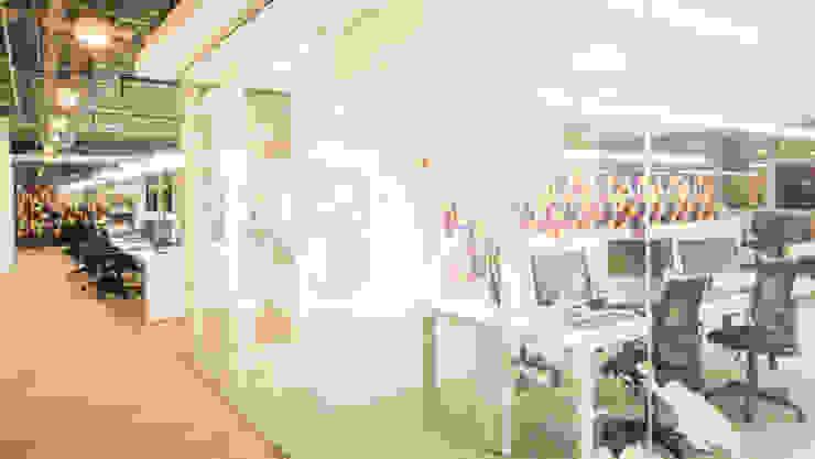 Adecuación oficinas KCP Dynamics Colombia. Estudios y despachos de estilo moderno de ARCE S.A.S Moderno
