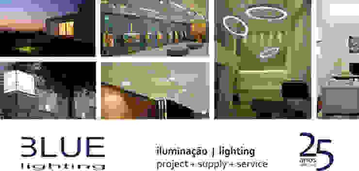LUZIBÉRICA | BLUE LIGHTING lamps por LUZZA by AIPI - Portuguese Lighting Association Moderno