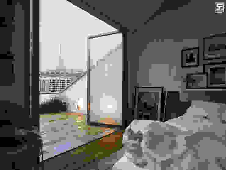 Chambre minimaliste par homify Minimaliste Bois Effet bois