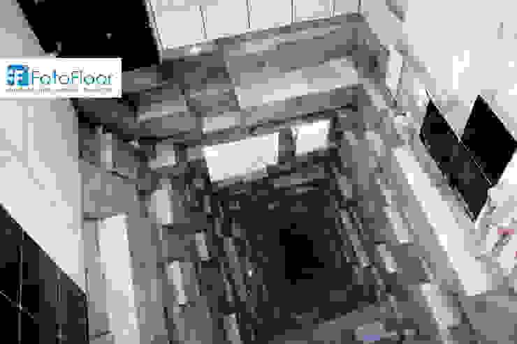 Podłoga 3D z efektem głębi Nowoczesna łazienka od FotoFloor Nowoczesny