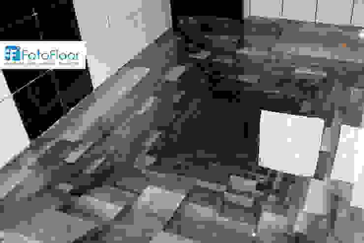 Podłoga 3D - efekt trójwymiarowości Nowoczesna łazienka od FotoFloor Nowoczesny