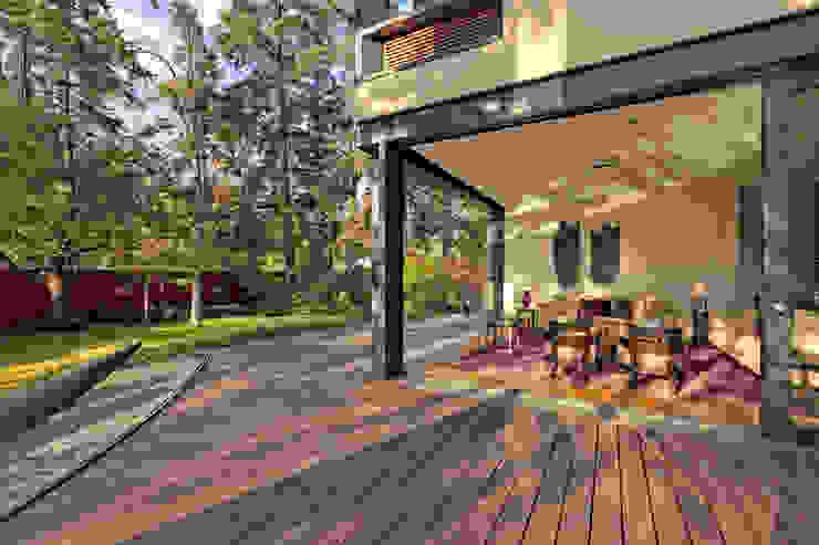 Casa JRQZ Balcones y terrazas modernos de Lopez Duplan Arquitectos Moderno