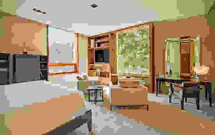 モダンスタイルの寝室 の Lopez Duplan Arquitectos モダン