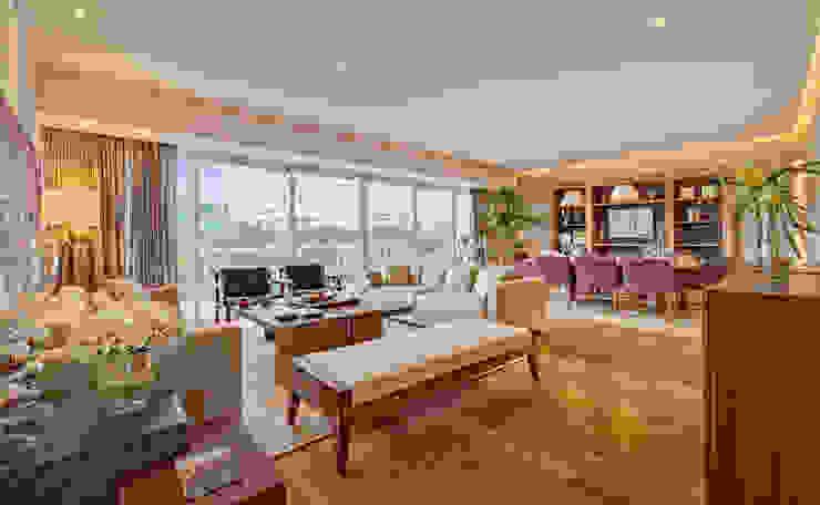 Departamento Parque Reforma Lopez Duplan Arquitectos Salones modernos
