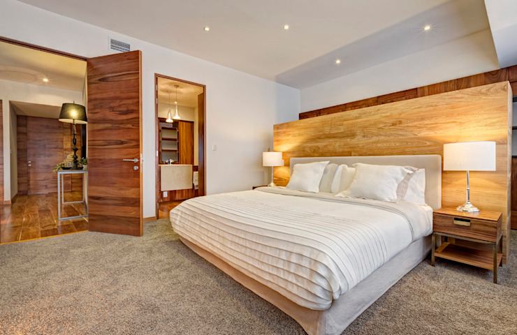 Modern style bedroom by Lopez Duplan Arquitectos Modern