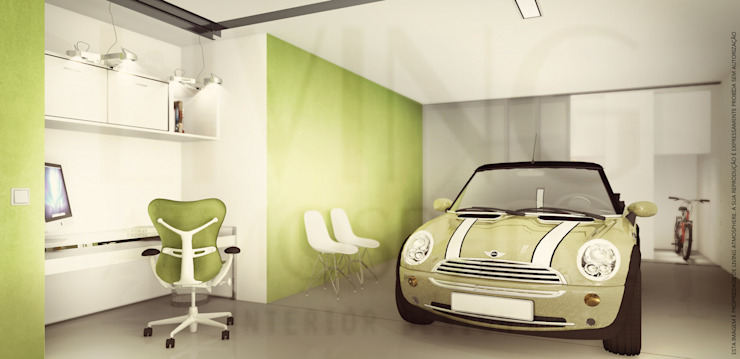 Modern Garage and Shed by homify Modern