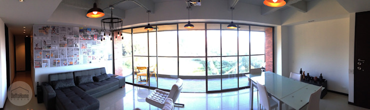 Industrial Livingroom Salas de estilo industrial de DeftoHomeStudio INC Industrial