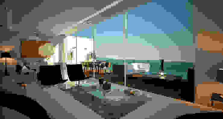 Casa en Acapulco Salones modernos de Citlali Villarreal Interiorismo & Diseño Moderno