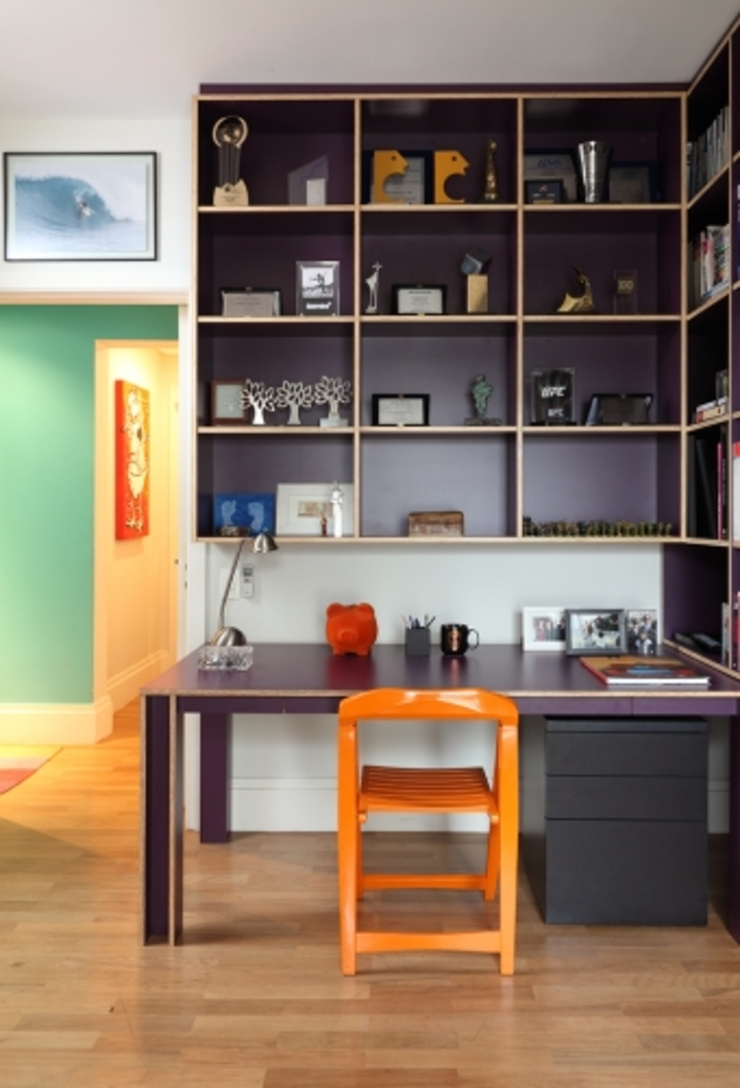 Bruna Riscali Arquitetura e Design Moderne Arbeitszimmer