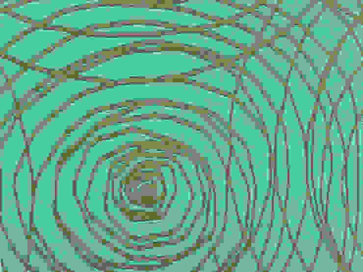 Abismo Calipso de Nua Colección Moderno Textil Ámbar/Dorado