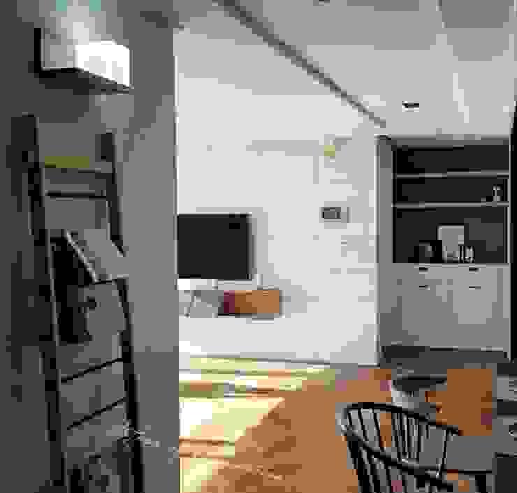 우만동 월드메르디앙 39평 인더스트리얼 다이닝 룸 by JMdesign 인더스트리얼