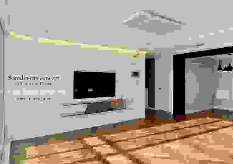 우만동 월드메르디앙 39평 인더스트리얼 거실 by JMdesign 인더스트리얼
