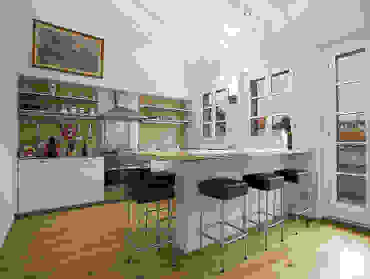Penthouse in legno Cucina moderna di PAZdesign Moderno