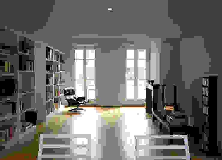 Penthouse in legno Soggiorno moderno di PAZdesign Moderno