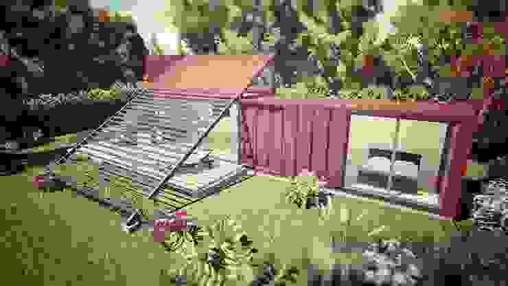 Modelo vivienda 30 M2 de Ecologia Modular Arquitectos
